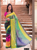 NS11694 Green and Multicolor Daily Wear Printed Georgette Saree