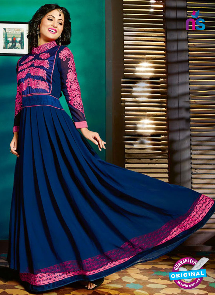 NS12127 Blue and Pink Anarkali Suit