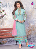 SC 13906 Sky Blue Georgette Designer Occasion Wear Long Designer Straight Suit
