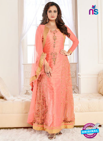 Aashirwad 6001 Peach Anarkali Suit
