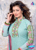 SC 13906 Sky Blue Georgette Designer Occasion Wear Long Designer Straight Suit Online