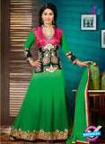 NS12146 Green and Black Salwar Suit
