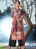 Heer 6002 Black and Multi Color Cotton Designer Straight Suit