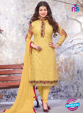 SC 13901 Yellow Georgette Designer Occasion Wear Long Designer Straight Suit
