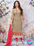 SC 13902 Beige Georgette Designer Occasion Wear Long Designer Straight Suit