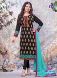 SC 13905 Black Georgette Designer Occasion Wear Long Designer Straight Suit