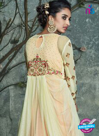 Peach Silk Party Wear Gown