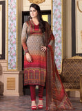 Rakhi 6005 Red Color Satin Georgette Designer Suit