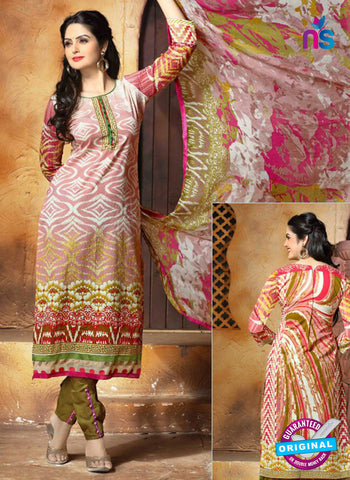 SC 13653 Pink and Green Cambric Cotton Designer Fancy Ethnic Exclusive Salwar Straight Suit