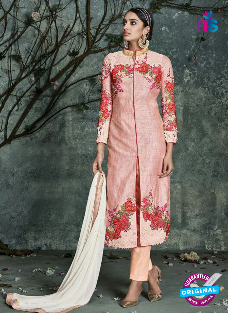 AZ 3531 Pink Silk Party Wear Suit
