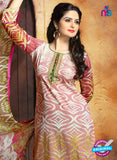 SC 13653 Pink and Green Cambric Cotton Designer Fancy Ethnic Exclusive Salwar Straight Suit Online