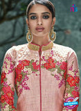 AZ 3531 Pink Silk Party Wear Suit Online