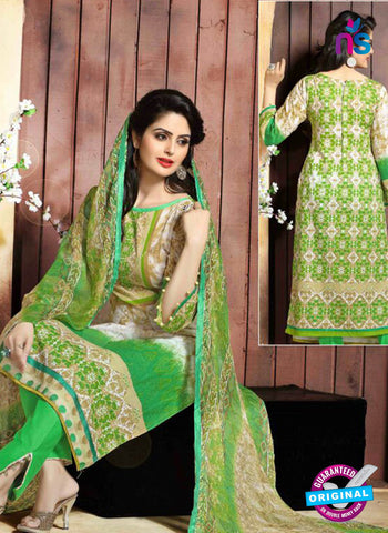 SC 13654 Green Cambric Cotton Designer Fancy Ethnic Exclusive Salwar Straight Suit