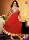 NS 11970 Red and Golden Designer Anarkali Suit