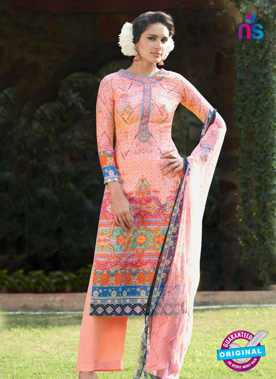 Heer 6007 Peach Color Cotton Designer Straight Suit