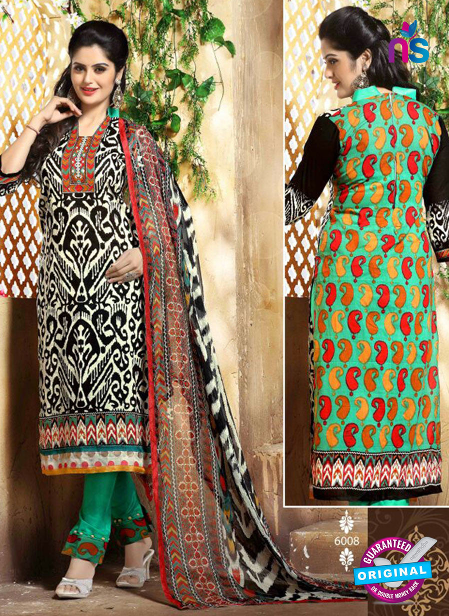 SC 13660 Black and Green Cambric Cotton Designer Fancy Ethnic Exclusive Salwar Straight Suit