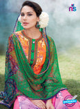 Heer 6008 Multi Color Cotton Designer Straight Suit