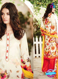 Ganga 6008-Beige and Red Cotton Designer Suit