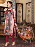Rakhi 6009 Beige & Red Color Satin Georgette Designer Suit