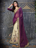 NS11851 Purple & Beige Color Georgette Designer Saree