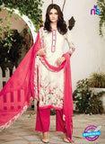 Ganga 6010-Beige and Pink Cotton Designer Suit