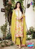 Ganga 6011-Grey and Green Cotton Designer Suit