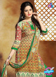 SC 13657 Multicolor and Green Cambric Cotton Designer Fancy Ethnic Exclusive Salwar Straight Suit