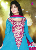 NS10250 Sky Blue and Pink Anarkali Suit