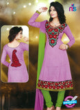 NS10251 Purple and Green Anarkali Suit