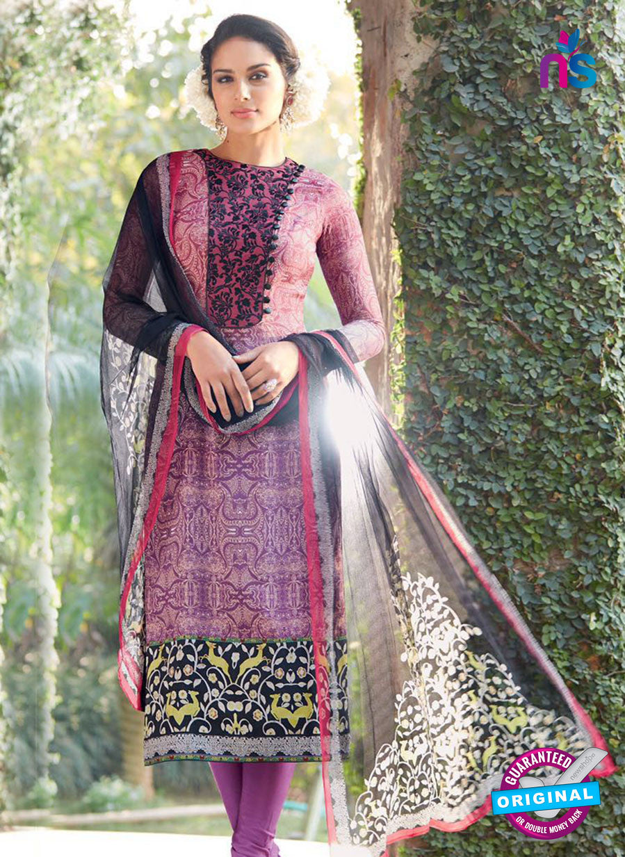 Heer 6012 Purple Color Cotton Designer Straight Suit