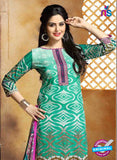 SC 13655 Sea Green and Purple Cambric Cotton Designer Fancy Ethnic Exclusive Salwar Straight Online
