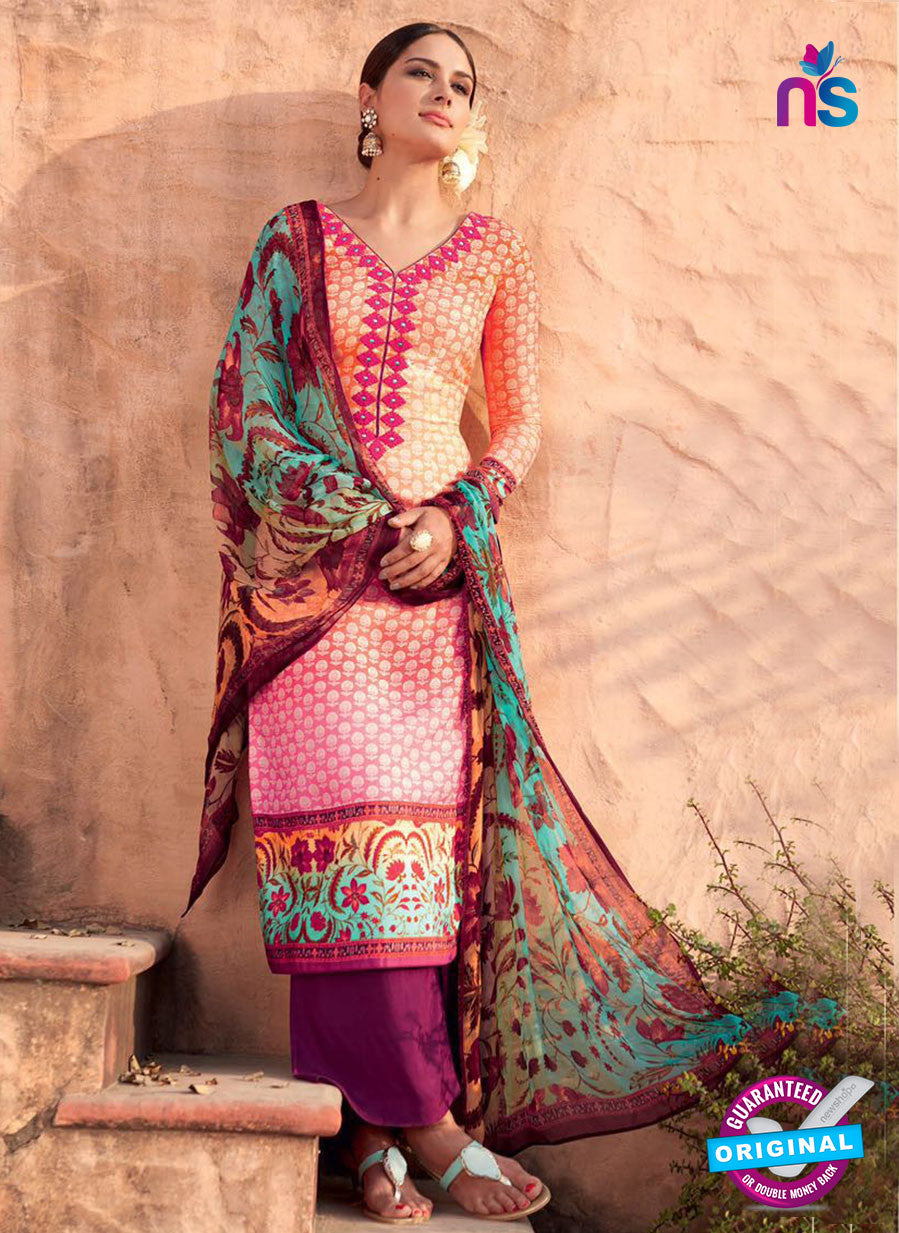 Heer 6013 Multi Color Cotton Designer Straight Suit
