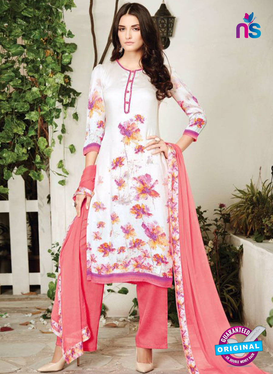 Ganga 6015-Grey and Pink Cotton Designer Suit