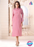 LT 601 Pink Georgette Party Wear Kurti