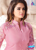 LT 601 Pink Georgette Party Wear Kurti Online
