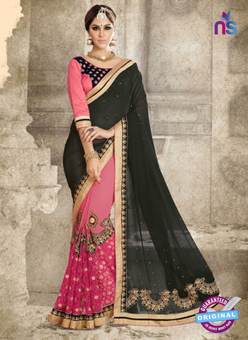 Ronak 6029 Pink Georgette Wedding Wear Saree