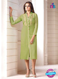 LT 602 Green Georgette Party Wear Kurti