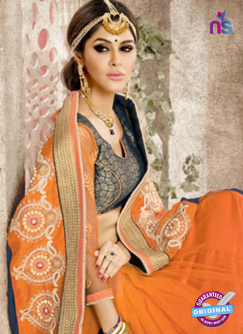 Ronak 6036 Orange Georgette Wedding Wear Saree Online