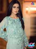 SC 13575 SkyBlue and White Designer Function Wear Traditional Fancy Pakistani Salwar Suit