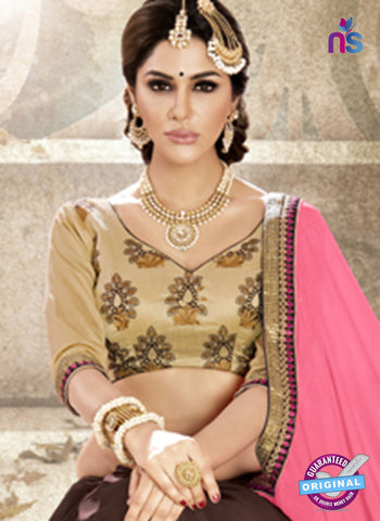 Ronak 6037 Brown Georgette Wedding Wear Saree Online