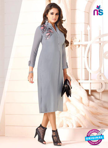 LT 603 Grey Georgette Party Wear Kurti