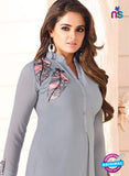LT 603 Grey Georgette Party Wear Kurti Online