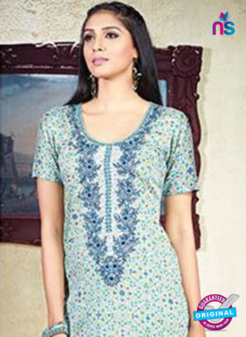Karma 603 A Sky Blue Cotton Satin Pakistani Suit Online