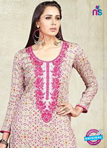 Karma 603 B Beige Cotton Satin Pakistani Suit Online