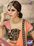 Ronak 6040 Pink Georgette Wedding Wear Saree online