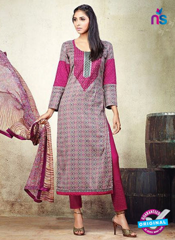 Karma 604 A Pink Cotton Satin Pakistani Suit