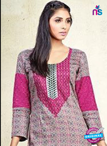 Karma 604 A Pink Cotton Satin Pakistani Suit Online