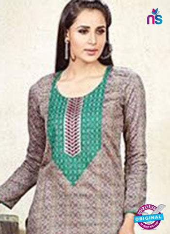 Karma 604 B Light Brown Cotton Satin Pakistani Suit Online