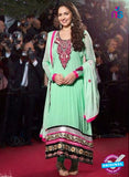 NS 12503 Sea Green and Magenta Georgette Straight Suit