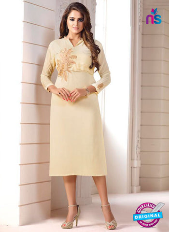 LT 605 Beige Georgette Party Wear Kurti